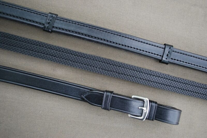 KL Select Red Barn Easy Grip Reins - Pin End