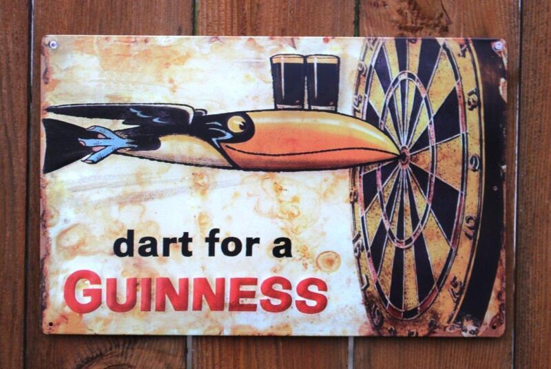 "Guinness - Dart Metal Beer Sign (17""x11"")"