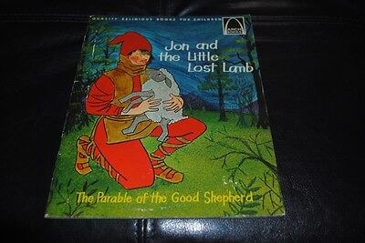 Jon and the Little Lost Lamb Vintage Children's Book 1965 Parable of Lost Sheep - Parable Of Lost Sheep