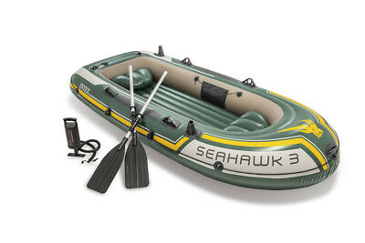 Schlauchboot Seahawk 3 Set mit Paddel + Pumpe Boot Paddelboot Angelboot 68380