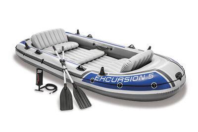 Schlauchboot Excursion 5 Set mit Paddel + Pumpe Boot Paddelboot Ruderboot Intex