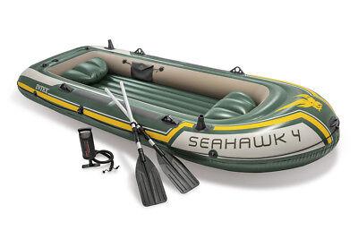 Schlauchboot Seahawk 4 mit Paddel + Pumpe Boot Paddelboot Angelboot 68351 Intex