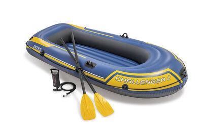 Schlauchboot Challenger 2 Set mit Paddel + Pumpe Boot Paddelboot Ruderboot 68367