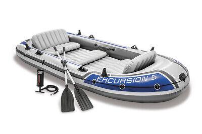 INTEX Boot Schlauchboot Angelboot Paddel Pumpe Boot -Set Excursion 5 68325
