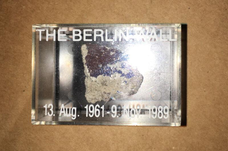 Nice Colors Germany Original Genuine Piece of The Berlin Wall w/  COA In Display