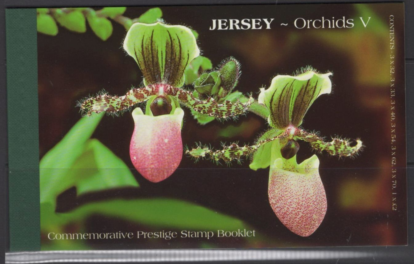 JERSEY SGSB63 2004 ORCHIDS BOOKLET MNH