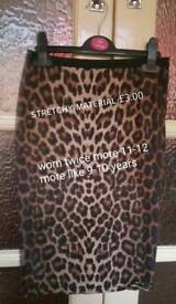 Girls leopard skirt 9-10 years PRICE REDUCED