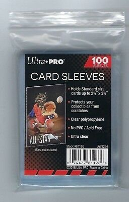 1000 Ultra Pro Sports Card Soft Penny Sleeves FREE SHIPPING