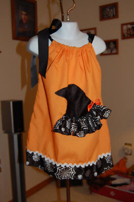 Halloween Pillow Case Dress Size Small Fits Ages 1-3 with matching headband - Pillowcase Dress Halloween