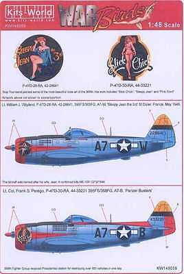 (Kits World Decals 1/48 P-47D THUNDERBOLT 395th Fighter Squadron)