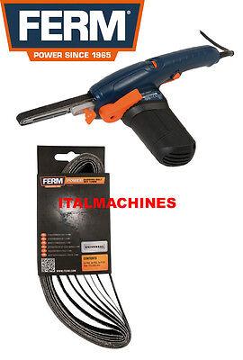 Set Kit 8 nastri abrasivi ricambio limatrice nastro Ferm EFM1001 art. EFA1003