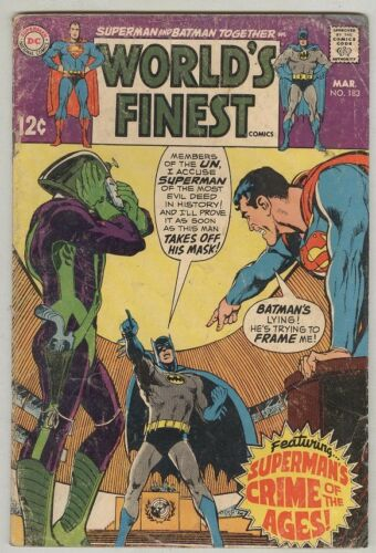 World's Finest #183 March 1969 G Neal Adams Cover