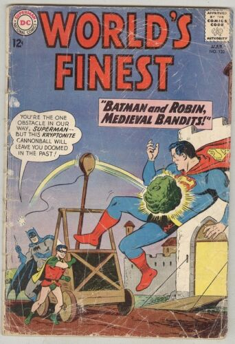 World's Finest #132 March 1963 G Kryptonite Cannonball