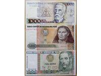 BANKNOTES BRASIL AND DEL PERU
