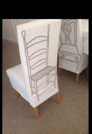 6 marks and Spencer's cream dining chairs