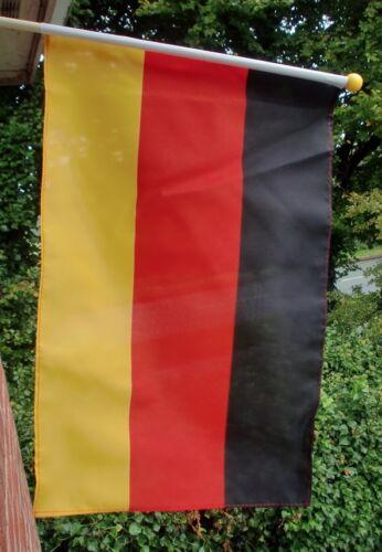 "GERMANY LARGE HAND WAVING FLAG 18"" X 12"" with 24"" WOODEN POLE German Munich Bonn"