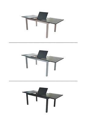 XXL Doppler Ausziehtisch Tisch Gartentisch ausziehbar Gartenmöbel Aluminium Alu