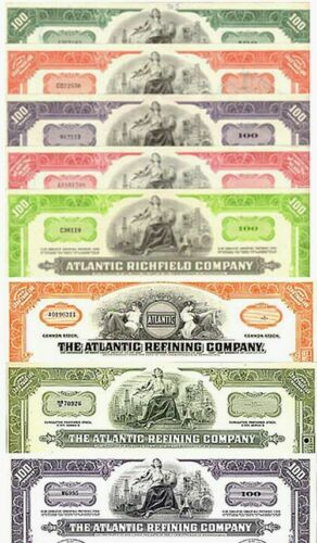 #1 COLLECTION ART DECO ARCO STOCKS (ATLANTIC REFINING/RICHFIELD) 8 DIFF @ $0.99!