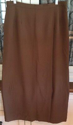 Kasper ASL vintage skirt NWT 14 brown long modest 36