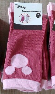 Disney Logo Socken Größe 39/42 2 Paar (4 - Disney Socken