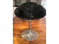 Designer Egg shape chairs Eros by Kartell with S+ARCK Acrylic - Black