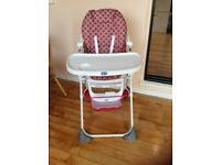 Chicco Pocket Lunch Highchair red