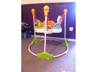 Fisher price jumperoo 3 months old hardly used