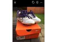 Junior Football boots nike size 1