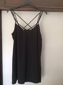 River Island size 18 black playsuit with strapy back detail