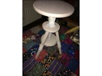Vintage swivel stool piano lamp stand