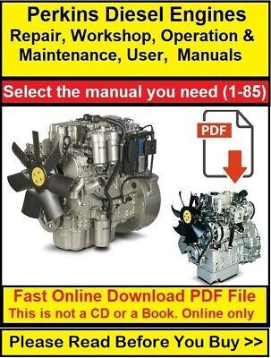 Perkins Diesel Engine Manual Repair Workshop Operation Maintenance User