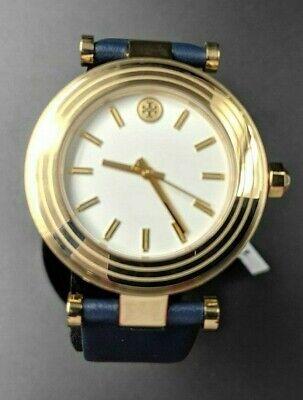 New Authentic Tory Burch Women's Classic T - TBW9001 Blue 36 MM Watch -BBJ073C7