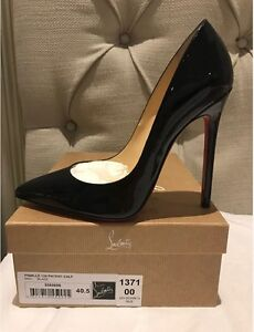 Christian Louboutin Black Patent 120 Pigalle Pumps - 40.5 Artarmon Willoughby Area Preview