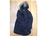 H&M black maternity coat size M