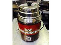 HOT SAUCE DISPENSERS FOR HOT MELTED CHEESE, CHOC ETC. 2 AVAILABLE