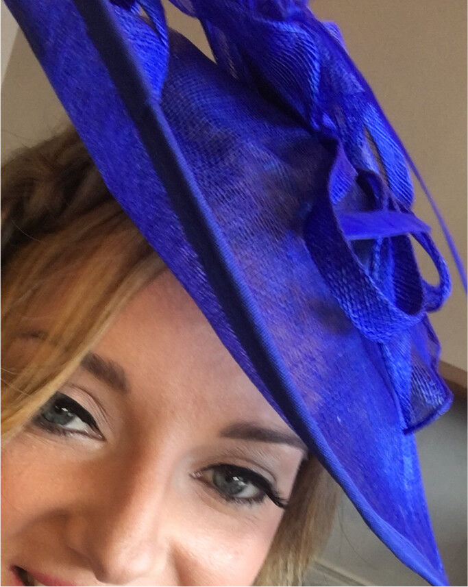 Royal Blue Hat Fascinator For Wedding Races Etc