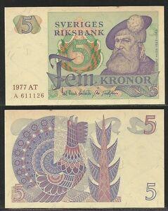 SVEZIA-SWEDEN-5-Kronor-1977-UNC-Pick-51c