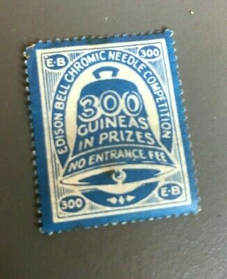RARE stamp Edison Bell Chromic Needle Competition Gramophone 300 Guineas Prizes