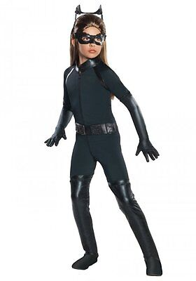 NWT GIRLS CATWOMAN HALLOWEEN COSTUME - SMALL 4-6 - BATMAN DARK KNIGHT TRILOGY