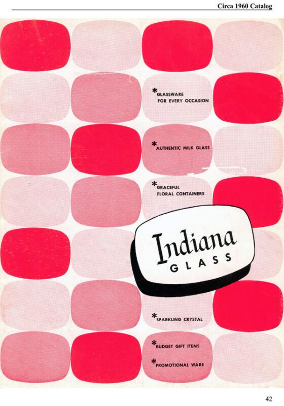 Indiana Glass Company 1950s-1960s ads & catalog reprint