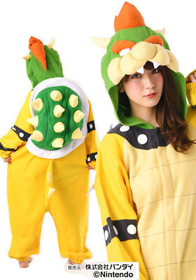 Super Mario Bros King Bowser Koopa Fleece Cosplay Costume Halloween fast - Super Mario Bowser Halloween Costume