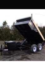 Loads to dump/dump trailer and truck for hire