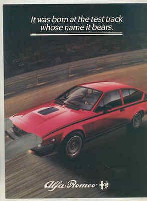 1982 Alfa Romeo GTV6 Balocco Special Edition US Brochure mx7229