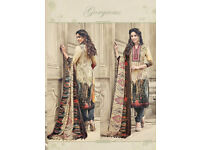 Latest unstitched Pashmina Salwar Kameez Pakistani Indian suit