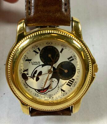 Unique Lorus Quartz Disney Mickey Mouse Chronograph Watch Vtg