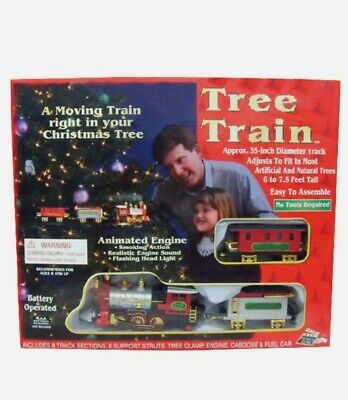CHRISTMAS - IN THE TREE TRAIN SET Indoor Animated Decoration HEADLIGHT & SOUND