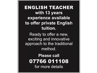 English Teacher/Tutor