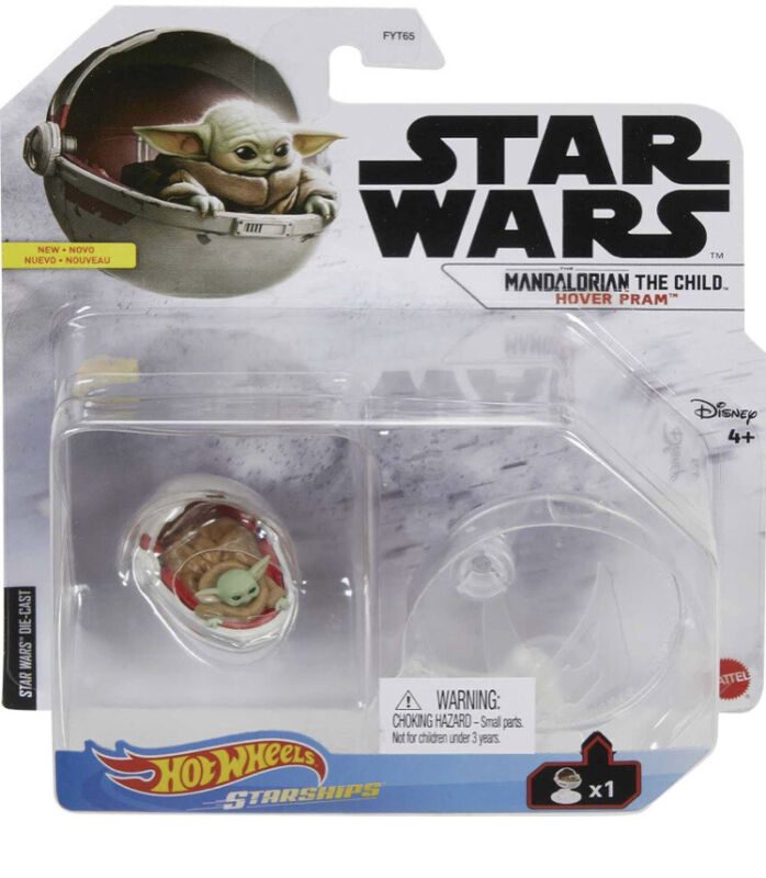 Star Wars Hot Wheels Starships The Mandalorian The Child Die-Cast W/ Stand