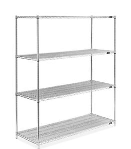 2 stainless steel wire shelving units