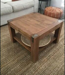 Timber side/lamp table